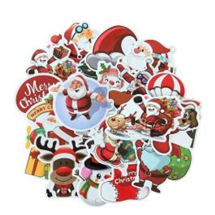 25PCs Merry Christmas 3D Cartoon Bubble Sticker Xmas Decor