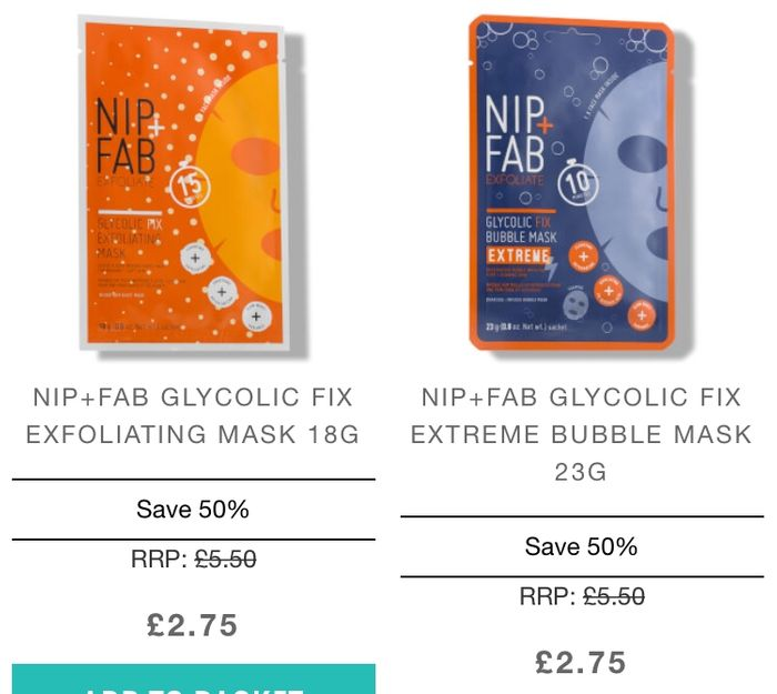 Save 50% on Nip + Fab at Lookfantastic for a Limited Time