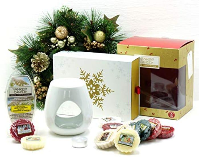 Official Yankee Candle 20 Piece Festive Season Melt Warmer Christmas Set