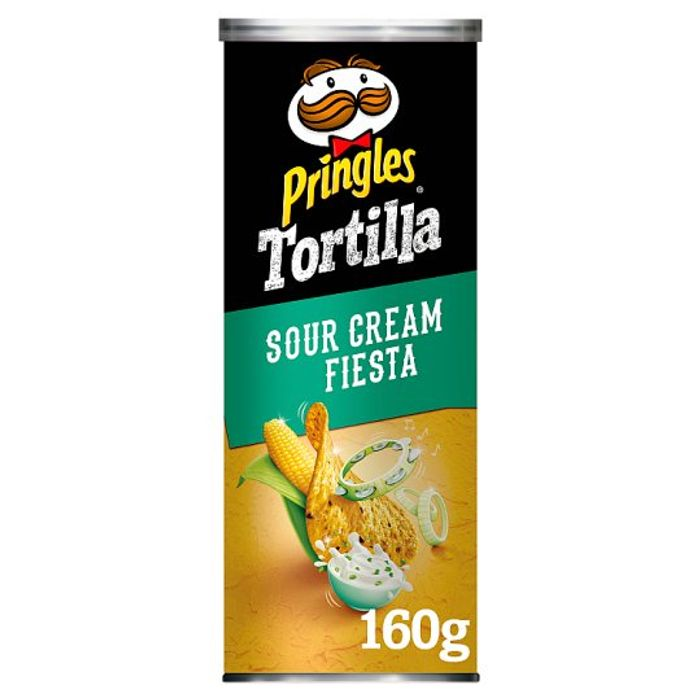 HALF PRICE Pringles Tortilla Sour Cream Snacks