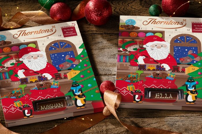Free Personalised Thorntons Advent Calendar with O2 Priority!