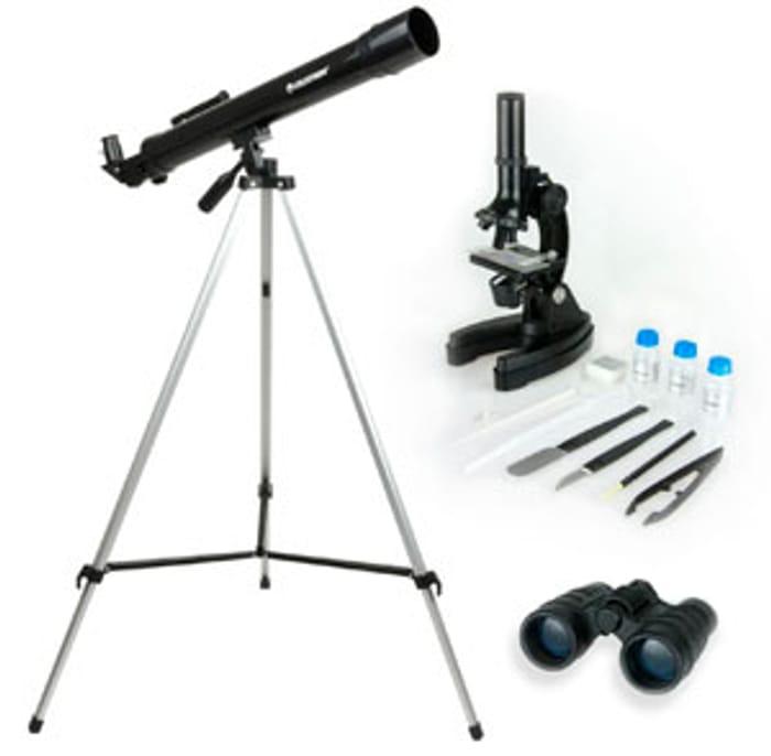 Black Friday Deal Celestron Telescope, Binoculars & Microscope Kit