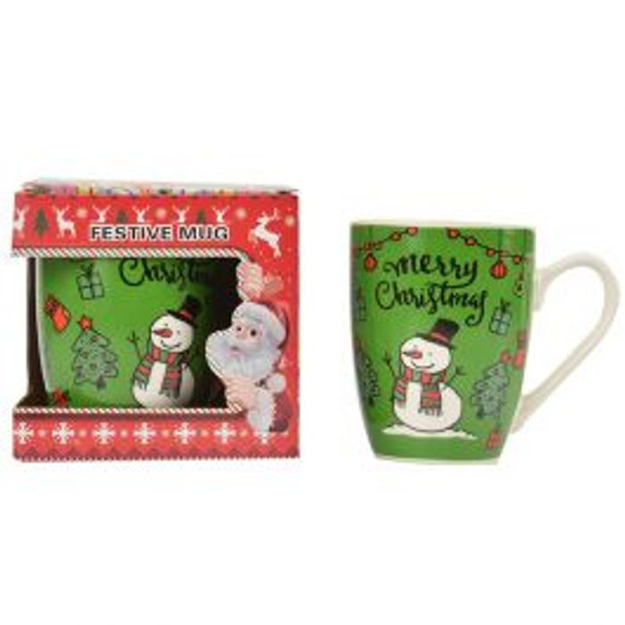 Cute Boxed Christmas Mugs