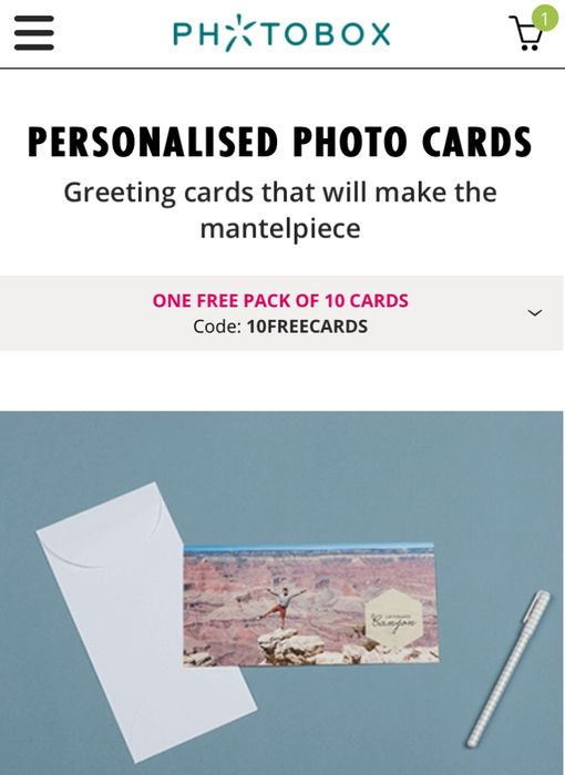 Personalised Photo Cards (One Free Pack of 10 Cards