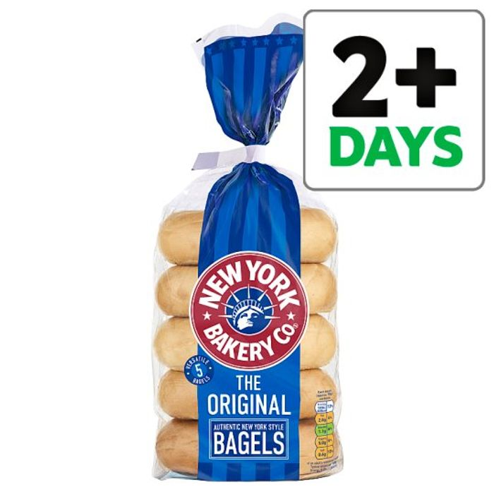 New York Bagels (All Flavours) 5 per Pack £1 at Tesco