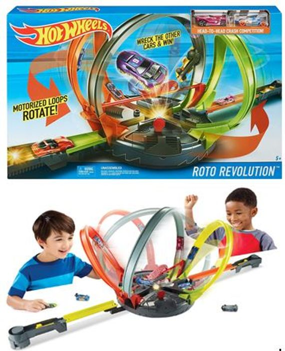 Hot Wheels - Roto Revolution Track Set with 2 Cars