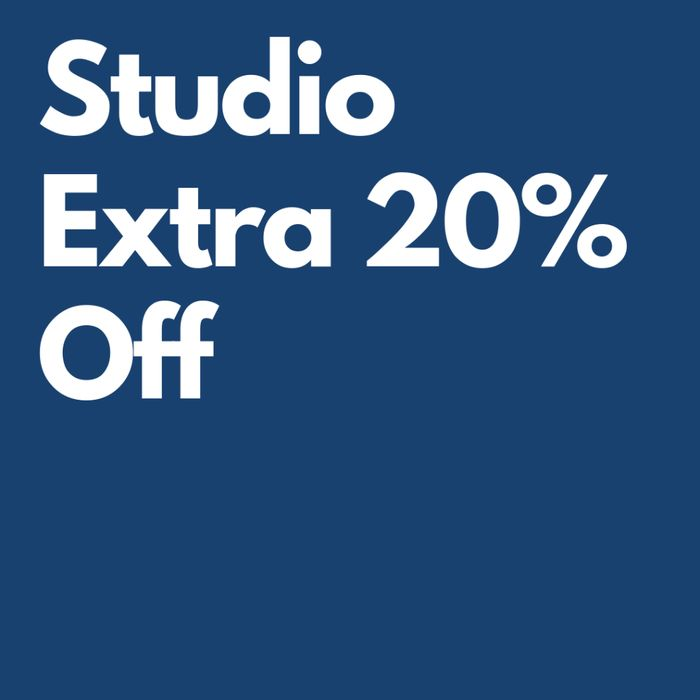 Studio Extra 20% off 1,000s Products (3 Days Only)