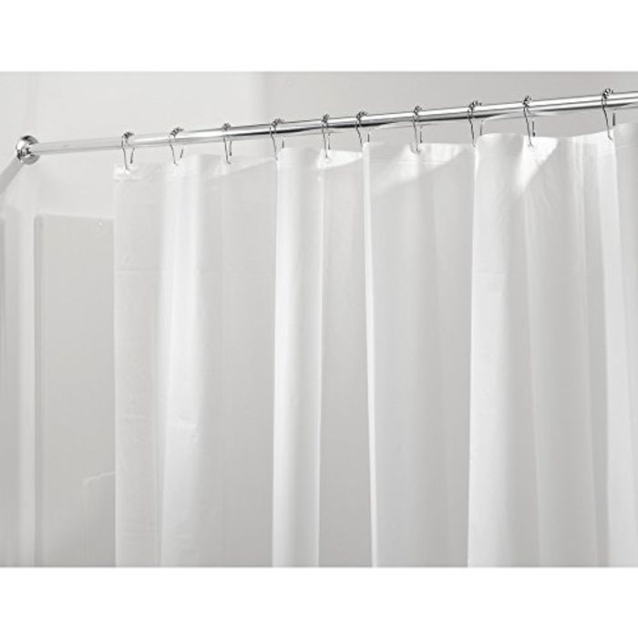 InterDesign 3.0 Liner Curtain for Shower, Made of Mould-Free PEVA, Frost
