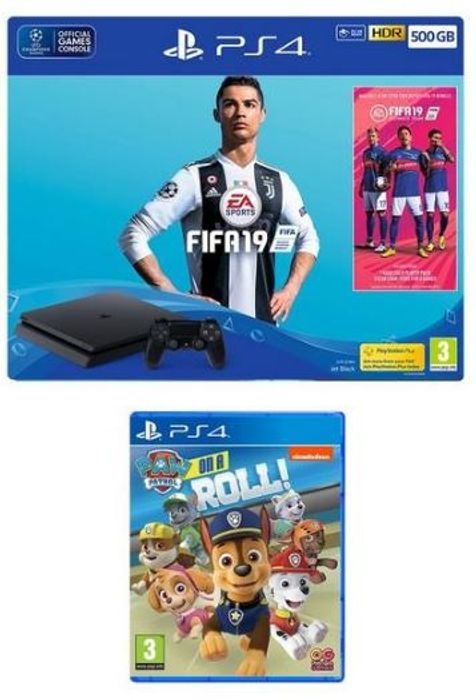 Playstation 4 FIFA 19 500Gb Console Bundle with Paw Patrol: On a Roll