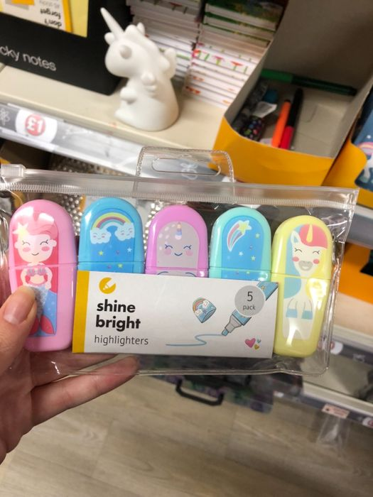 Poundland - Cute Pack of Kids Highlighters