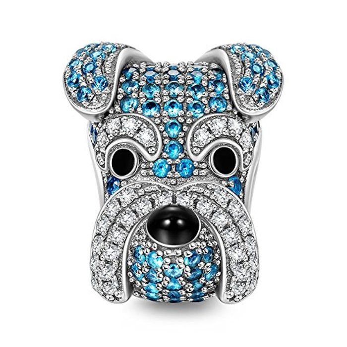 NINAQUEEN Women Bead Charms Puppy for Animals Lover