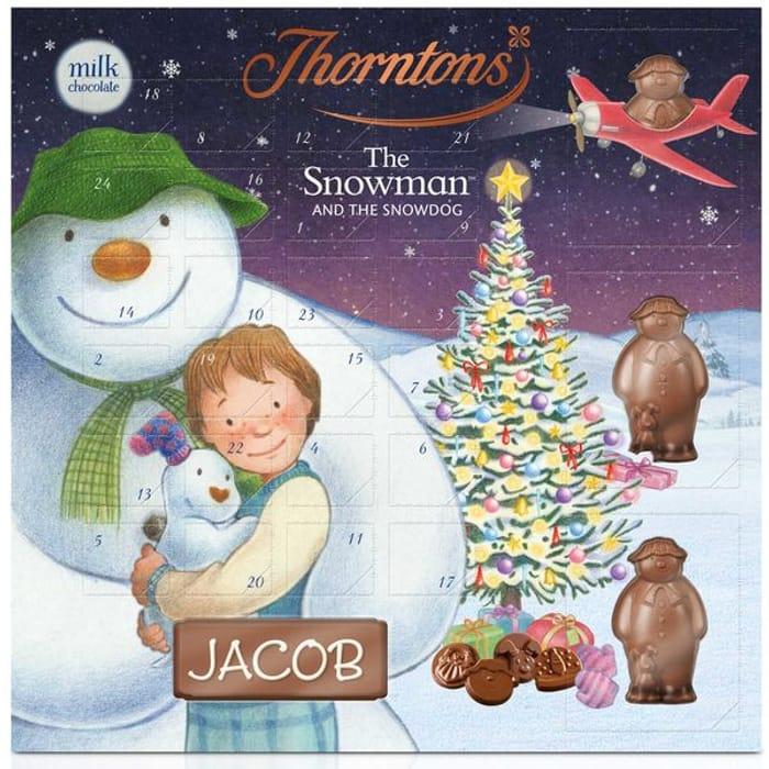 Large Snowman Advent Calendar (148g) from Thorntons