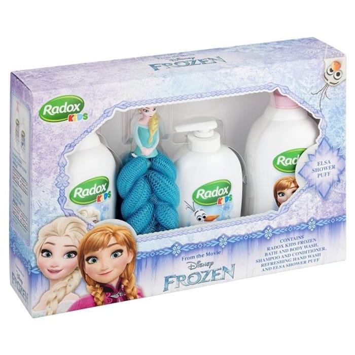 Radox Disney Frozen Gift Set with Elsa Bath Puff
