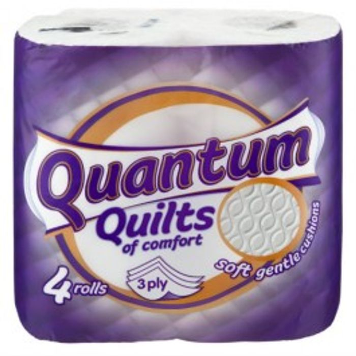 Quantum Quilted Toilet Tissue 4 Pack or warm spiced fragranced 4 Pack