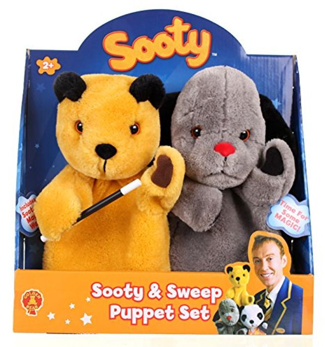*TODAY ONLY* the Sooty Show Sooty and Sweep Puppet Set