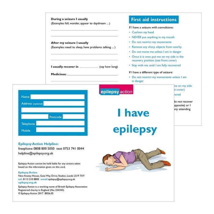 Free Epilepsy Card