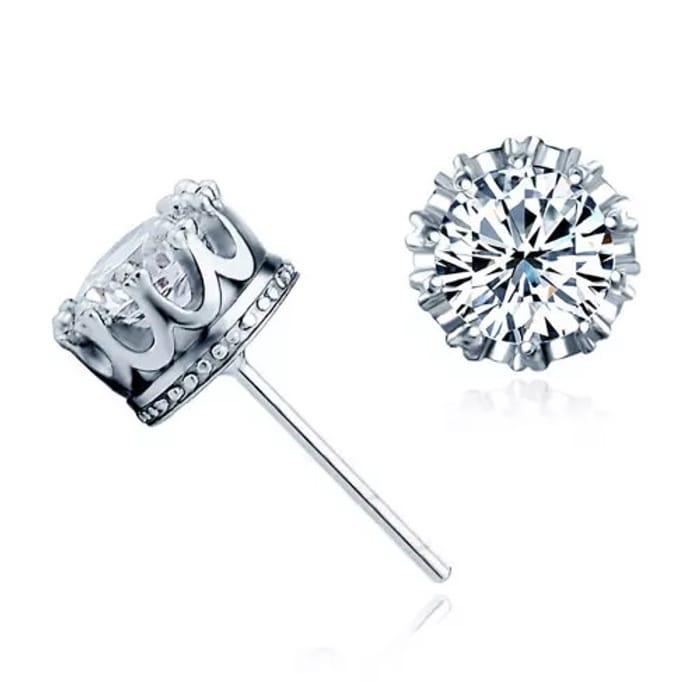 Crown Silver Earring 45% Off