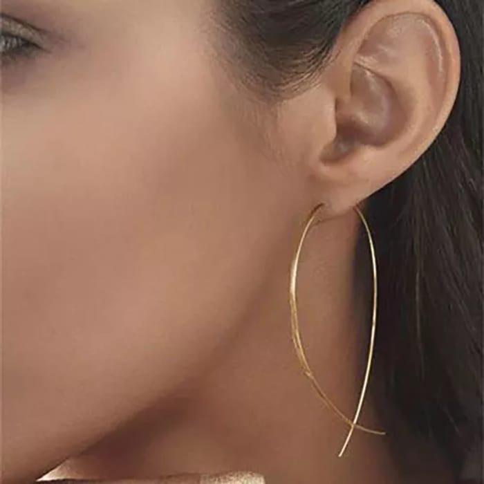 Golden Earrings 90% Off