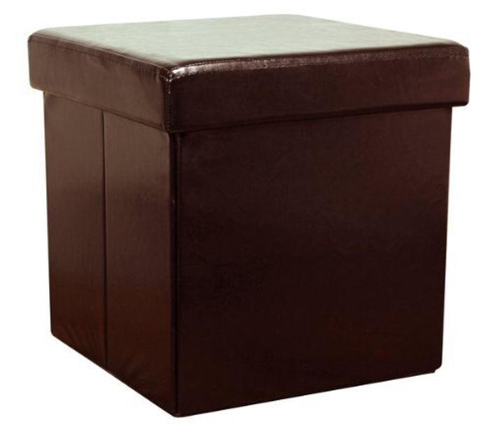 Brown Faux Leather Storage Box FREE DELIVERY
