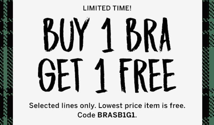 Buy 1 Bra, Get 1 Free