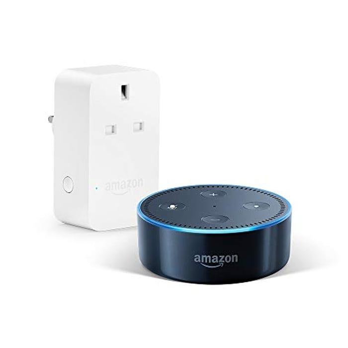 Amazon Echo Dot (2nd Gen), Black + Amazon Smart Plug, Works with Alexa