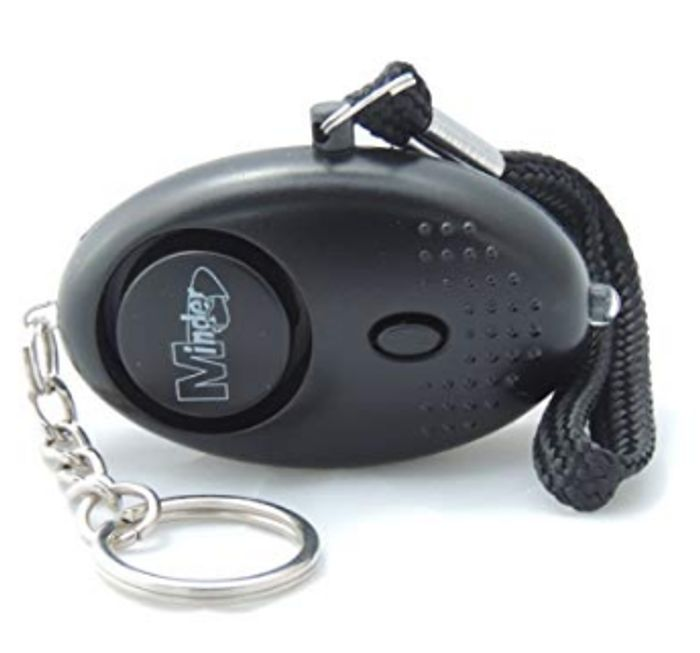 Minder 140db Police Approved Black Personal Safety Rape Alarm with Torch £5