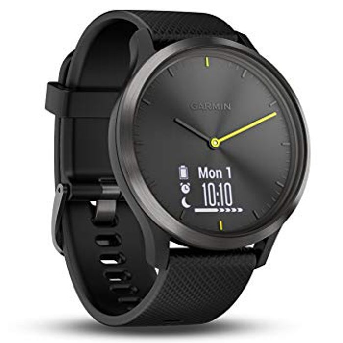 Garmin Vivomove S/M HR Hybrid Smartwatch (BLACK ONLY)