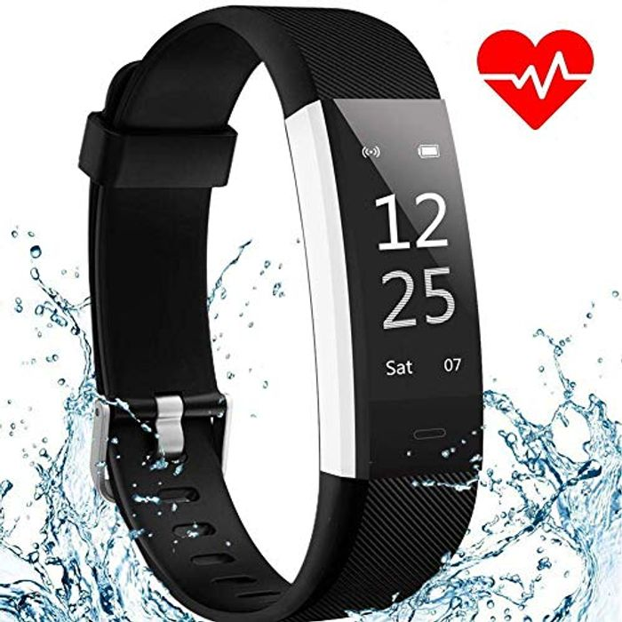 HUSAN Fitness Tracker Activity Tracker Watch with Heart Rate Monitor