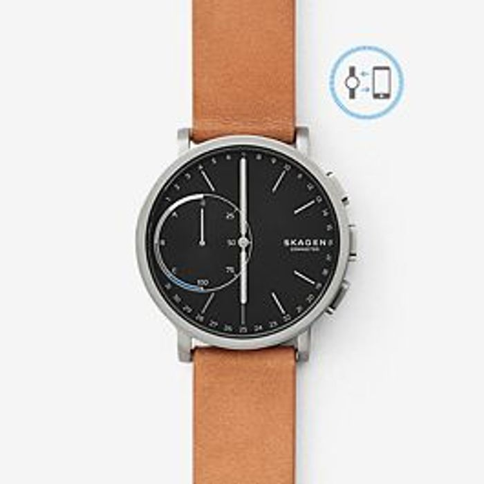 SKAGEN Hybrid Smartwatch - Hagen Titanium and Tan Leather