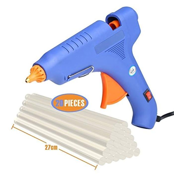 Hot Glue Gun,60 Watt Hot Melt Glue Gun with10PCS Transparent Glue Gun Sticks