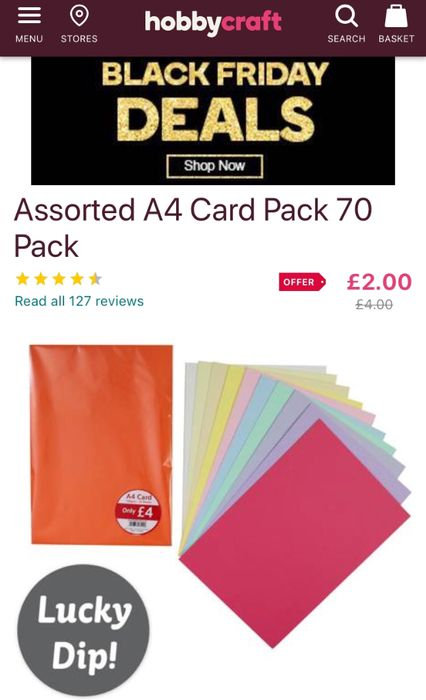 Assorted A4 Card Pack 70 Pack