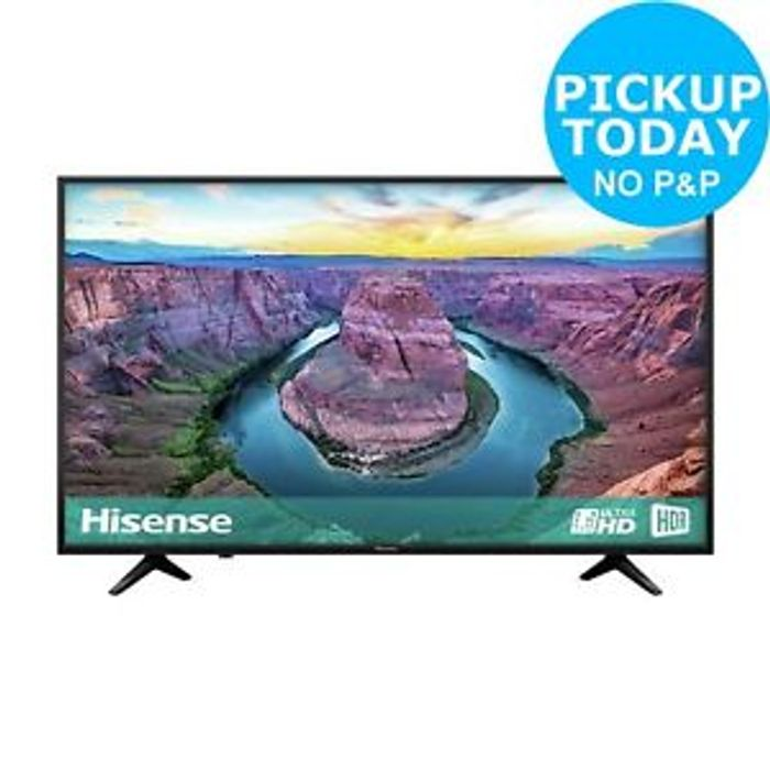 Hisense H43AE6100UK 43 Inch 4K Ultra HD HDR Smart WiFi LCD TV - Black