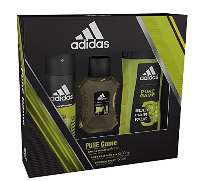 Adidas Pure Game Body Spray, Shower Gel and Eau De Toilette Trio, 50 Ml