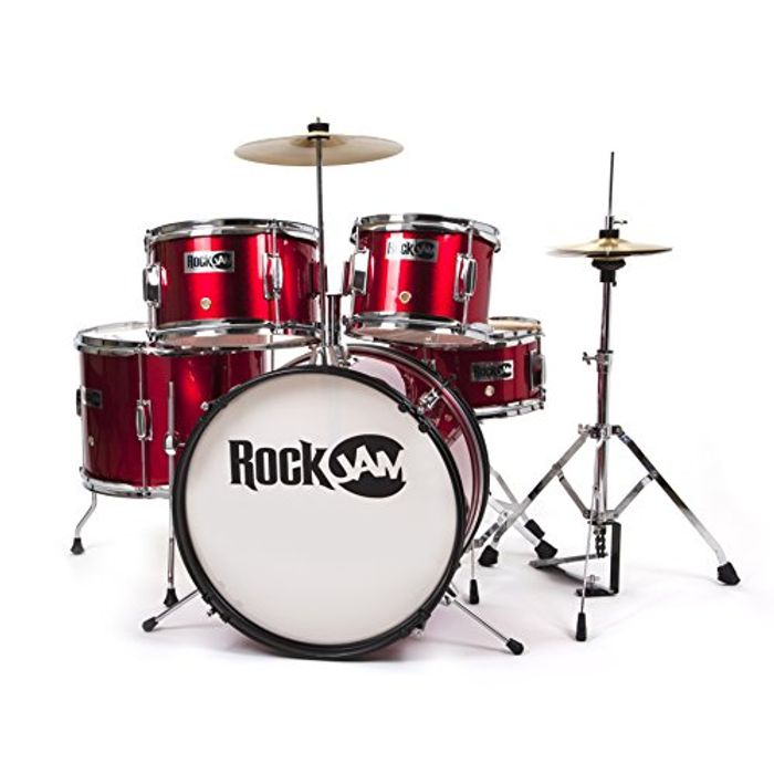 RockJam Complete 5-Piece Junior Drum Set
