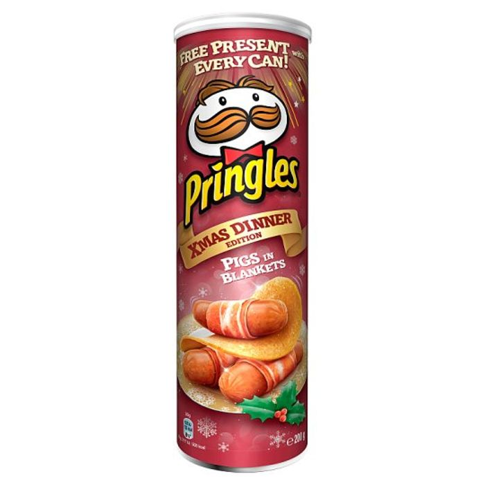 HALF PRICE Pringles Limited Edition Pigs in Blankets Christmas Dinner 200G