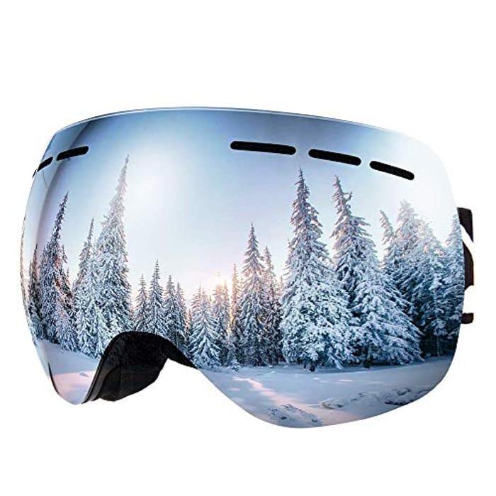 OTG Ski Goggles, Anti-fog,Windproof,UV400 UV Protection, Anti-Glare Ski Goggles