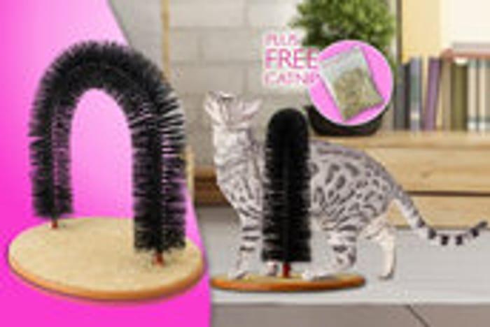 Cat Self-Groomer & Scratcher Post