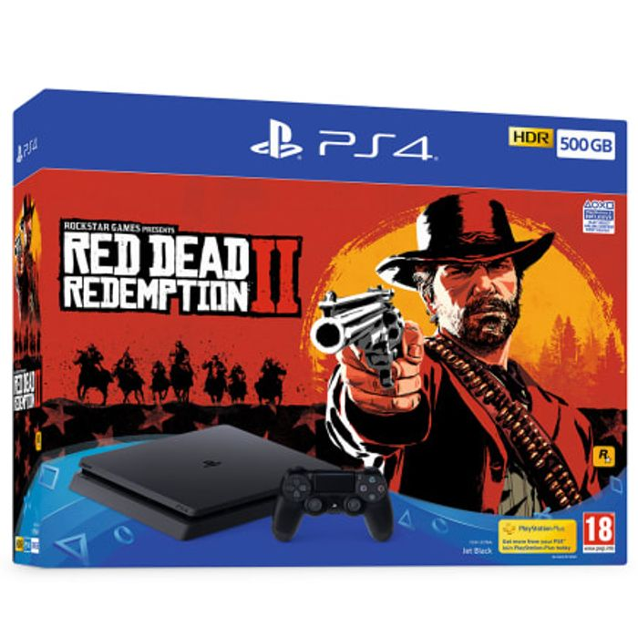 Playstation PS4 Console 500GB RED DEAD REDEMPTION 2 BUNDLE