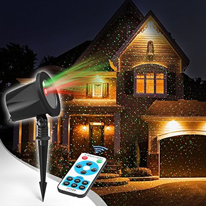 Christmas Projector Lights Outdoor, Aluminum Red and Green Garden Starry