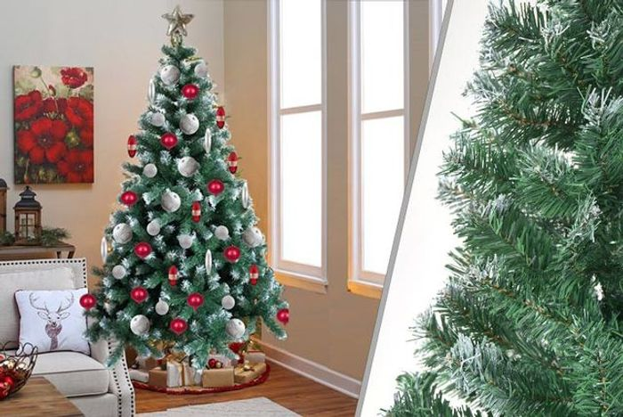 6ft Extra-Thick Snow-Tipped Artificial Christmas Tree