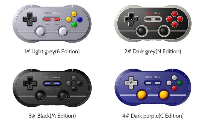 8Bitdo N30 Pro 2 Bluetooth Controller (Nintendo Switch) 4 Colors!