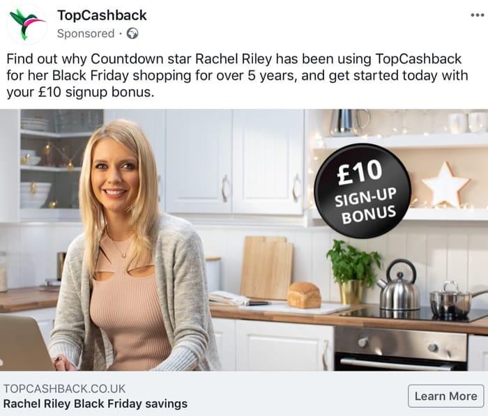 £10 New Member Bonus at Topcashback