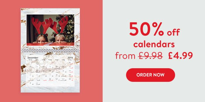 50% off on Cards & Calendars, and save 40% on Everything Else.