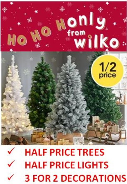 Half Price Christmas Trees Discount 3 For 2 Decorations At Wilko