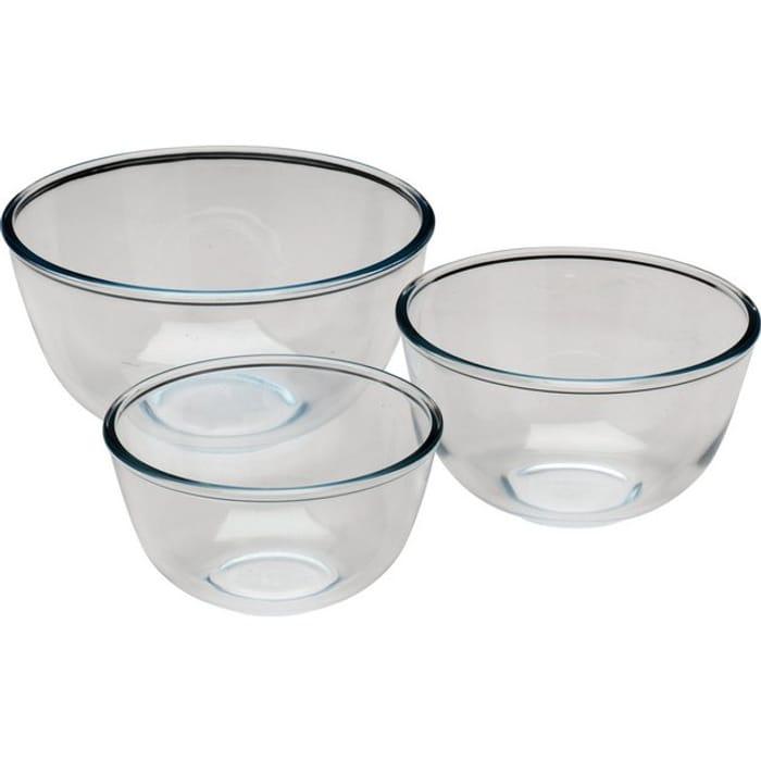 Pyrex 3 Piece Glass Bowl Set