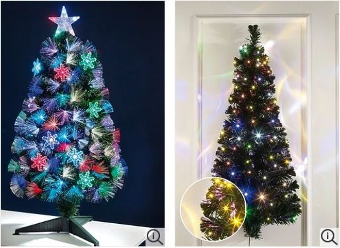 new concept 1c28a 17f1e Pre-Lit & LED Fibre Optic CHRISTMAS TREES from £9.99 at ...