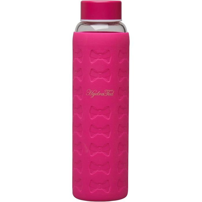 Ted Baker Glass Water Bottle with Silcon Sleeve Hot Pink