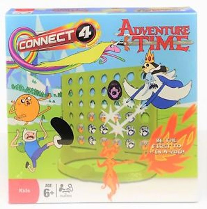 Hasbro Connect 4 Four Game Adventure Time Edition *Free Postage*