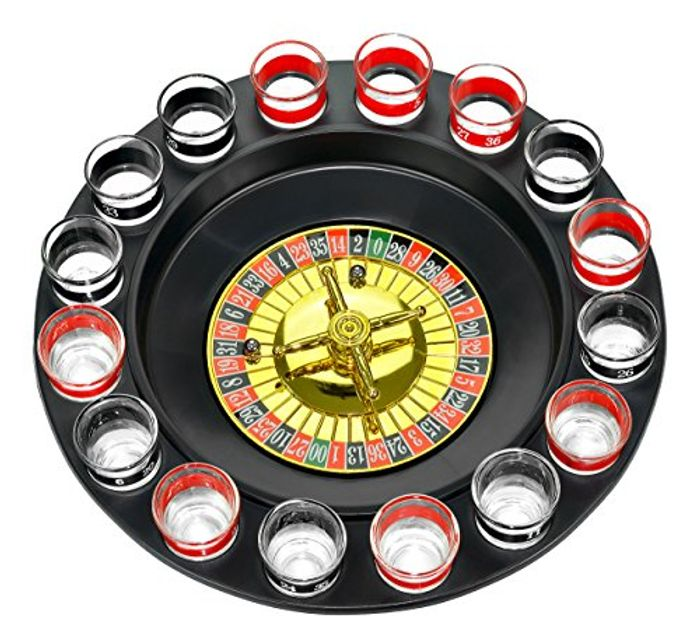 Drinking Roulette Incl. 16 Shot Glasses FREE DELIVERY