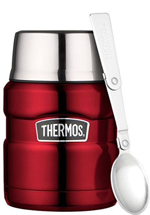 ALMOST HALF PRICE TODAY. Thermos Stainless King Food Flask, Red, 470 Ml